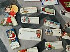 Vintage 31 Christmas Holiday Gift Tags 1920s 30s 40s Santa Cupies Figural ++