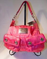 Coach Poppy C  Hot Pink Storypatch Shoulder Bag Purse 15304 L0517