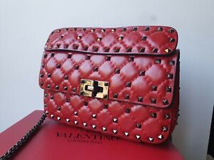 Valentino Rockstud small red bag