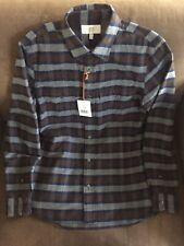 NWT Jack Spade $168 Putnam Flannel Work Plaid Brown Button Down shirt medium M