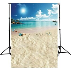 Photography Backdrop Summer Beach Heart Sea Vocation Background Studio Prop