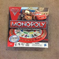 Monopoly Disney Cars 2 Edition 2011 Parker Brothers 100% Complete