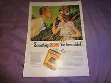 """1941 Old Gold Cigarettes Vintage Magazine Ad """"This lighter leaf is milder..."""
