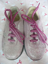 Naturino Girls Sparkly Pink Trainers/ Worn Once/ Size 22/ UK 5 Infant