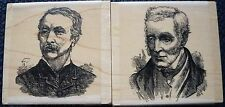 Personal Impressions Vintage Gentleman Rubber Stamps x 2, P1216F, P1217F, Men