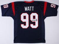 JJ Watt Signed Texans Jersey JSA COA Autograph Houston J.J. Blue