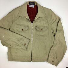 Vtg 40-50's Bespoke Galey Lord Cramerton ARMY Cloth SANFORIZED Lined WORK Coat