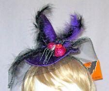 PURPLE & PINK SPIDER WITCH'S HAT HEADBAND