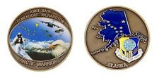 "ELMENDORF RICHARDSON JOINT AIR FORCE AFB ARTIC WARRIORS 1.75""  CHALLENGE COIN"