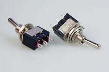 10 Miniatur Kippschalter einpolig Ein / Ein 230V~ 3A Wechselschalter Umschalter