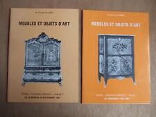 2 CATALOGUES ENCHERES 1981 1982 DELORME MEUBLES OBJETS D'ART PORCELAINES FAIENCE