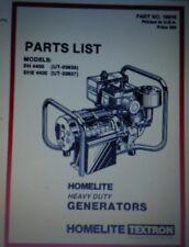 Homelite Eh Ehe 4400 Ut 03638 Ut 03637 Gasoline Generator Parts Manual Back Up
