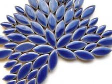 Dark Blue Ceramic Petals - Mosaic Tiles Supplies Art Craft