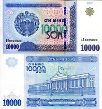 Uzbekistan 10000 Som Banknote World Paper Money Unc Currency Pick p84 2017 Bill