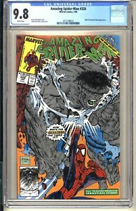 AMAZING SPIDER-MAN #328  CGC 9.8 WP NM/MT  Marvel Comics 1990  McFarlane HULK