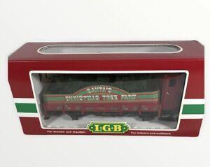 """LGB Vintage 1996 """"Santa's Christmas Tree Farm"""" #41120 NIB!"""
