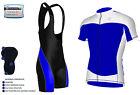 Hombre Ciclismo Media Manga Jersey, Camiseta Carreras Jersey + Bib Shorts Juego