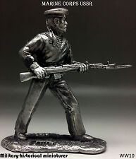 Marine corps Ussr, Tin toy soldier 54 mm, figurine, metal sculpture