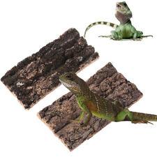 New listing Natural Rodent Reptile Habitat Lizard Spider Hide Climbing Tree Bark Platform