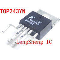 5PCS TOP243YN TO-220 AC/DC Switching Converters 30W 85-265VAC 45W 230VAC new