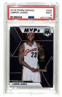 2019-20 Panini Mosaic #298 LeBron James MVPs card PSA 9 Cavaliers