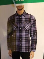 NWT JACHS NY Mens XL Classic Fit Blue Plaid Lightweight Casual Shirt