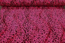 Fellimitat Leopard pink-schwarz Fellstoff pink schwarz Kunstfell Fell pink Leo