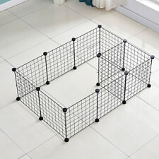 Portable Metal Dog Pet Playpen Crate Animal Fence Exercise Cage W/Door 12 Pcs