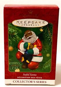 Hallmark Keepsake Joyful Santa African American Ornament 2001 NEW OLD STOCK
