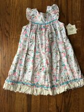 NWT Laura Ashley Pink Floral Ruffle Dress White 6 6X