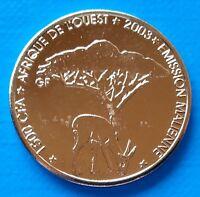 Mali 1500 CFA francs 2003 UNC Deer Elephant unusual coin