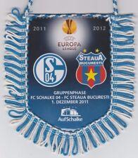 Orig.Wimpel   Europa League  2011/12   FC SCHALKE 04 - STEAUA BUKAREST ! SELTEN