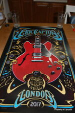 ERIC CLAPTON 2017 TOUR LONDON POSTER BY ADAM POBIAK SIGNED #/500 SOLD OUT