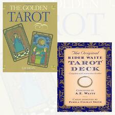 The Original Rider Waite Tarot Deck and The Golden Tarot 2 Books Collection Set