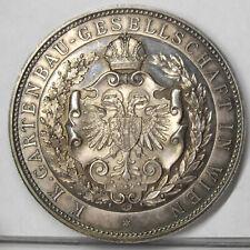RRR!! gr. Silbermed. v. Christlbauer, ca. 1900, 50 g, KK Gartenbaugesellschaft