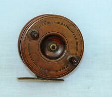 """3.1/2 x 1.1/2""""  spine back Nottingham centrepin fishing reel with tilted foot"""