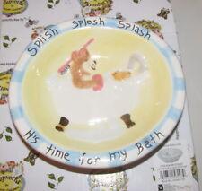 It's Time for My Bath Bear Dish Blue Sky Clayworks 2006 Artist Heather Goldminic