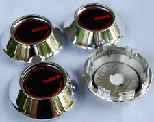 New 4 Caps 60 MM Sticker Resin Logo Wheel Center Cover Hub Rim Car Racing Chrome