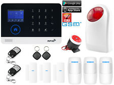 C01 WiFi APP GSM RFID Wireless Home Security Alarm Burglar System+Strobe Light