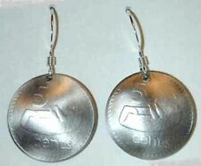 Coin Jewelry-Fiji drum coin earrings-exotic!