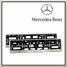 2 x CHROME MERCEDES-BENZ NUMBER PLATE SURROUNDS HOLDER FRAME FOR SPRINTER VAN