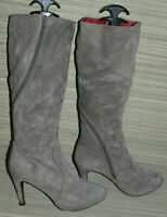 BELLISSIMO WOMENS BROWN ZIP SUEDE KNEE HIGH BOOTS SIZE:5/38(WB3366)