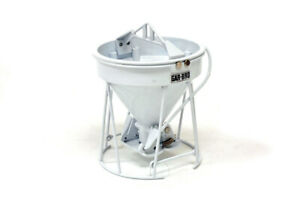 Weiss 1900 Gar-Bro Round Gate Concrete Bucket - White 1/50 Die-cast MIB