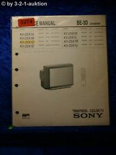 Sony Service Manual KV 25X1D /A /B /E /K /R /U Color TV (#3274)
