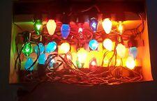 LOT OF VINTAGE CHRISTMAS TREE LIGHTS C-7 1/2 PENNANT AMICO GAY-LITES