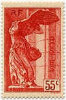 "FRANCE N°355 ""POUR LES MUSEES NATIONAUX, SAMOTHRACE, 55 C ROUGE""NEUF xTB"