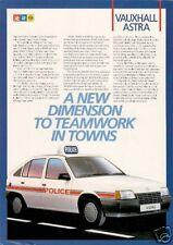 Vauxhall Astra Cavalier Mk2 Police Fire Cars 1985-86 UK Market Leaflet Brochure