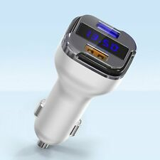 4 In 1 Dual USB Car Charger Adapter Voltage DC 5V 4.8A Tester For iPhone Tablet