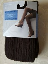2 Pairs Women Ladies Acrylic Tights Black Queen Size Stockings New