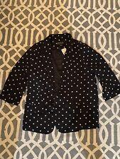 F21 Plus Polka Dot Blazer Jacket Size XL
